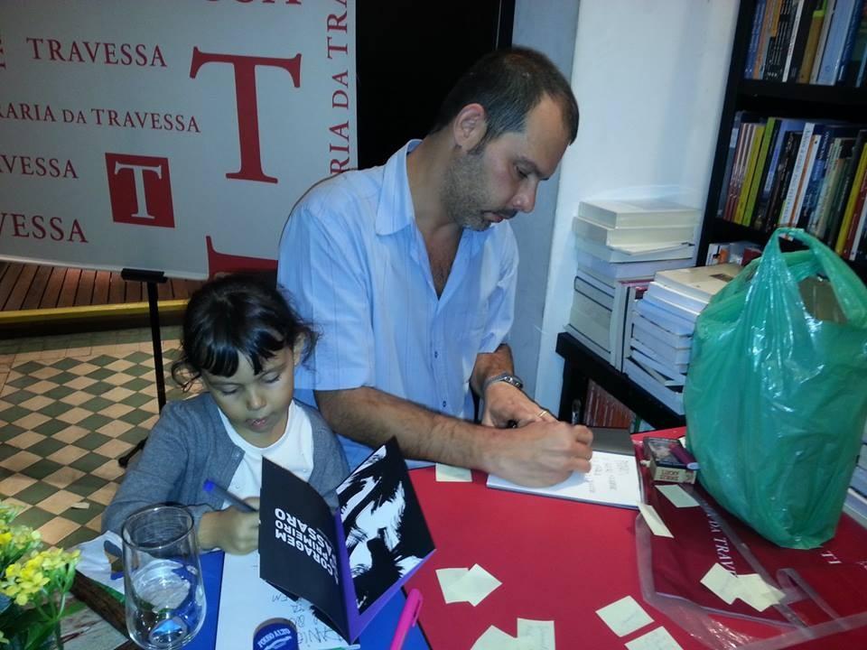 Andre  Dahmer e a filha Nina - Foto Eliane Brigida Morais Falcão