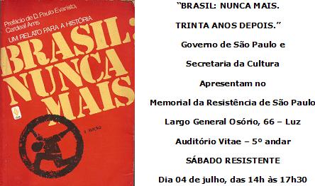 Brasil  Nunca Mais convite editado
