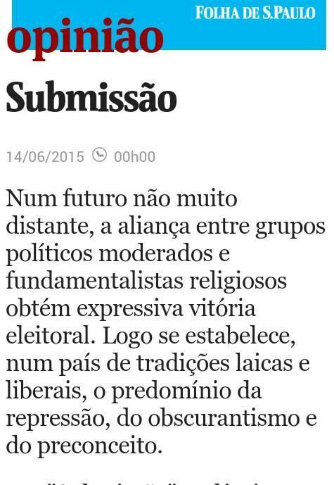Reprodução - Folha de S.Paulo - edição  14/06/2015