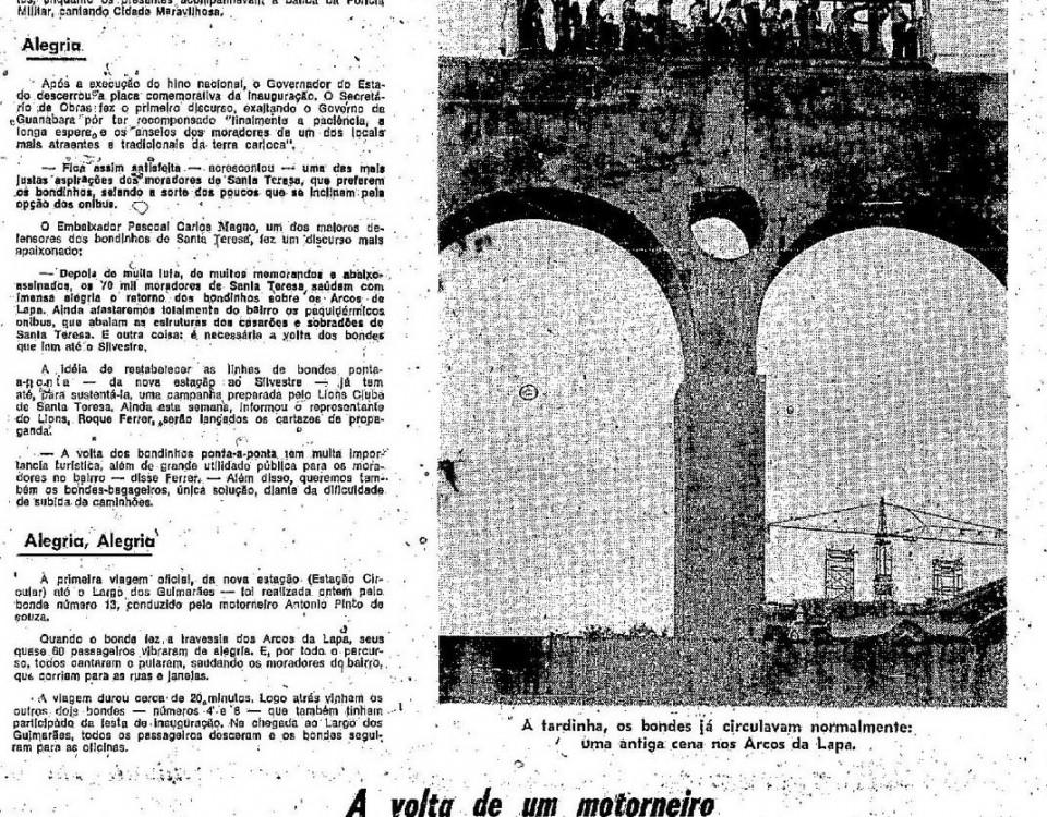 Reportagem de O Globo 01 de fevereiro de 1975