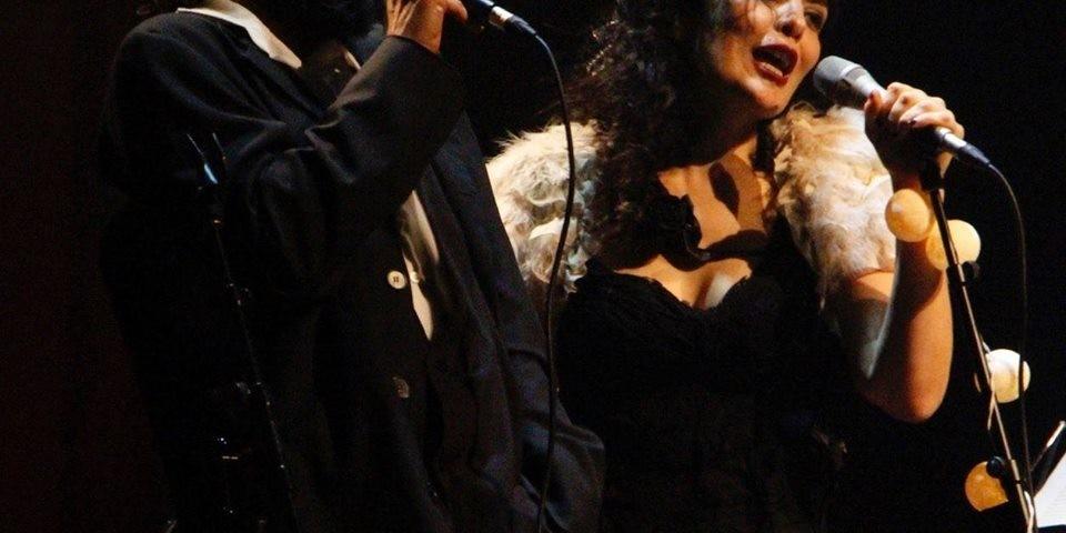 O casal no show, por enquanto apenas em São Paulo.