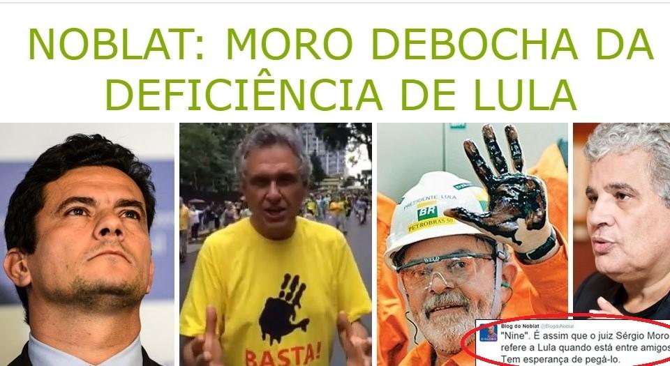 No blog 247, a referencia ao preconceito contra Lula, vítima de acidente de trabalho.