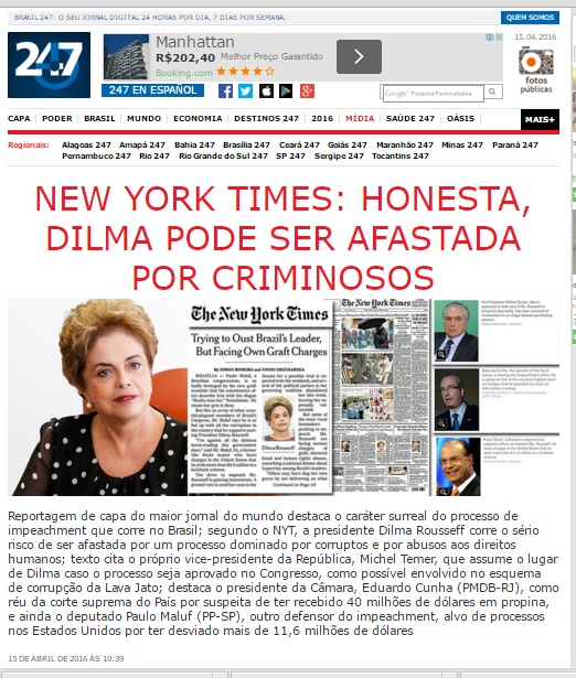 Copio a foto do New York Times publicada no site Brasil247.