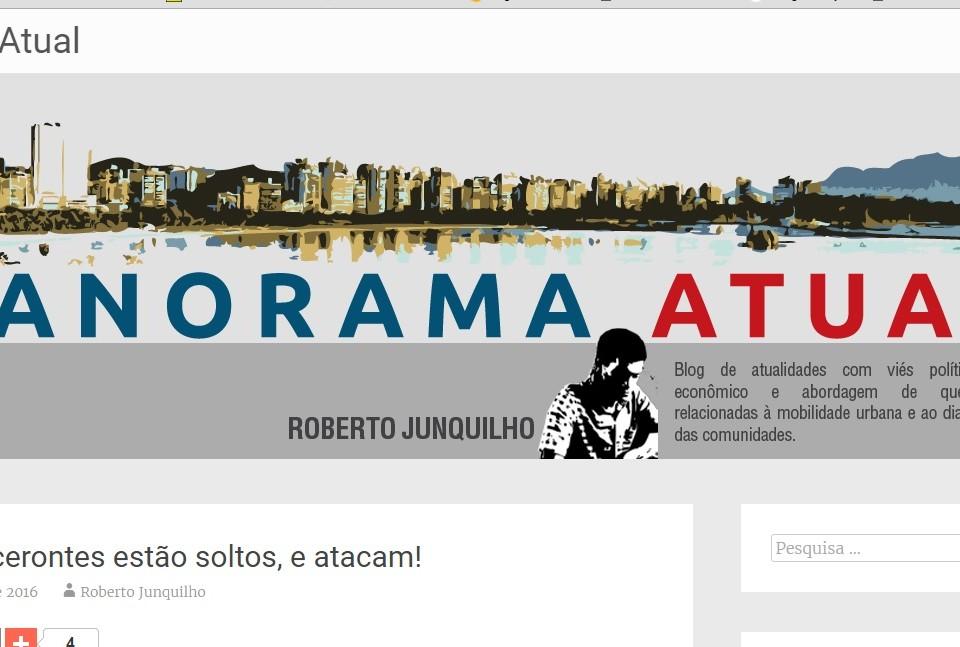 Panorama Atual, blog do jornalista Roberto Junquilho na revista eletrônica Século Diário