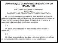 constituição brasileira - liberdade de opinião