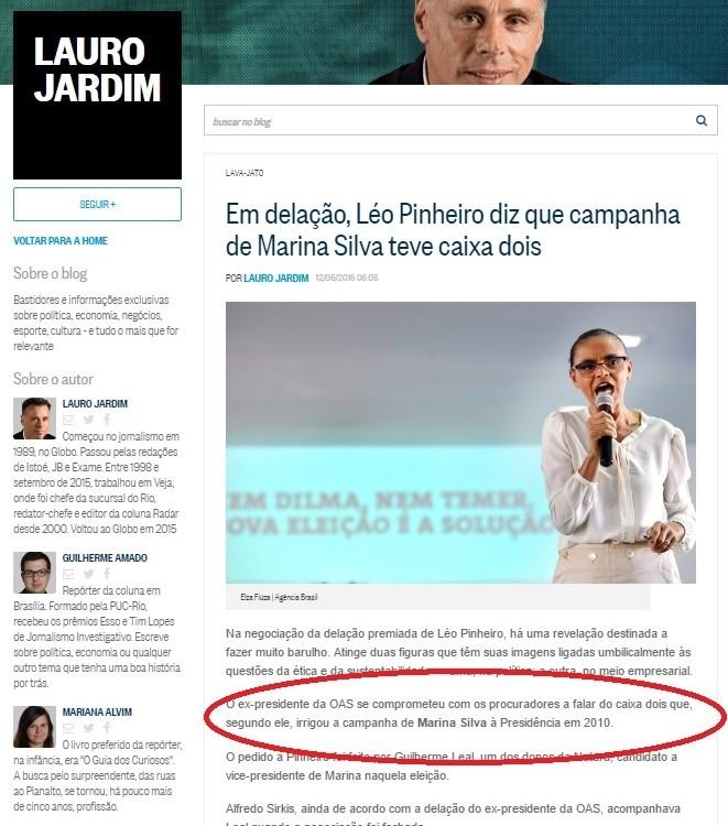 Na coluna de Lauro Jardim o anuncio da promessa feita por um delator aos procuradores. Quem vazou?