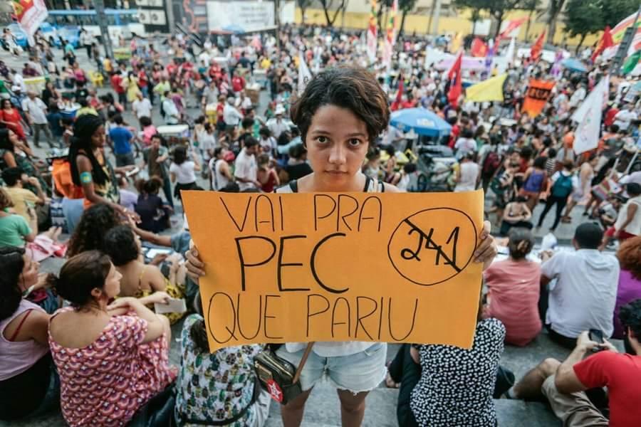 Não será o primeiro e nemp ultimo ato contra a PEC 241. No dia 17 de outubro uma grande manifestação ocupou a Cinelândia. Foto Mídia Ninja