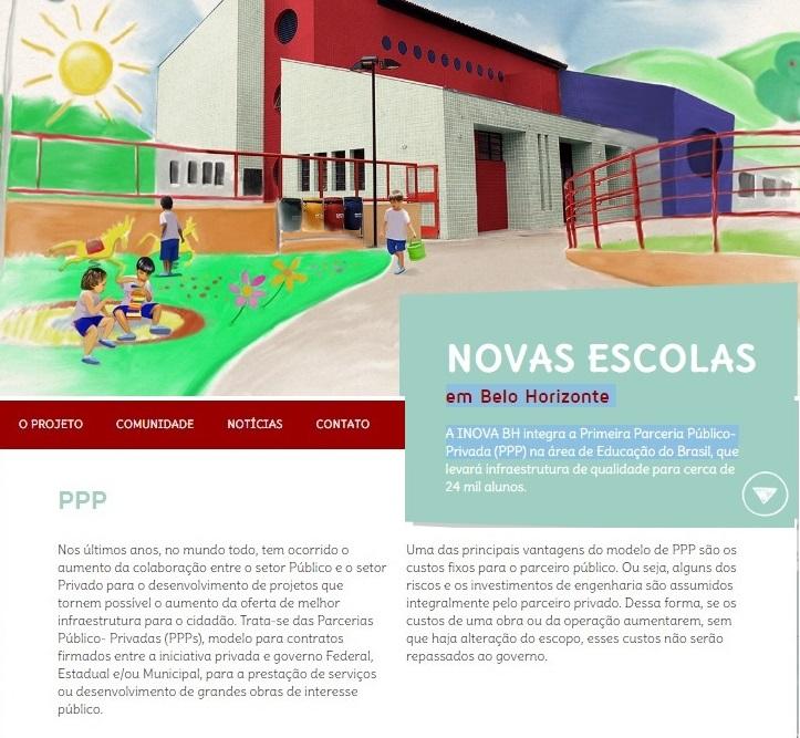 Propaganda da Parceria Público Privada  feita entre uma empresa do Grupo Odebrecht e a prefeitura de Belo Horizonte.