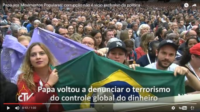Brasileiros no III Encontro Mundial dois Movimentos Populares