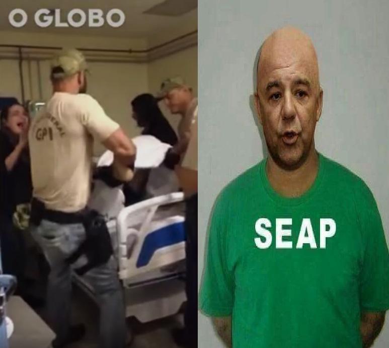 No quarto de um hospital a filmagem da transferência de Garotinho, na penitenciária, a foto distribuída de Sérgio Cabral: retrocesso inaceitável