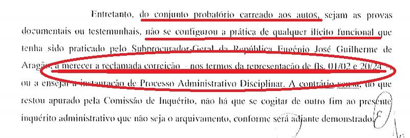 """No parecer da Comissão de Inquérito a definição de que o chamado """"relatório interno"""" dos delegados foi, na verdade, encarado como uma """"representação""""."""