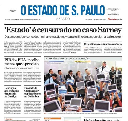 Em 2009, a censura imposta ao jornal pela família Sarney foi manachete do jornal. Agora, a tentativa de censura da delegada Erika não chega ao conhecimento dos leitores. Provavelmente por um jogo de interesses.