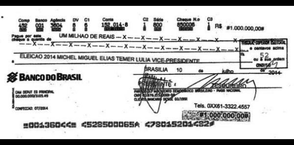 Temer, até a eclosão da crise do prédio, não se posicionara sobre a anistia ao Caixa 2 que o beneficiaria, até por conta do famoso cheque da Andrade Gutierrez de R$ 1 milhão em seu nome.