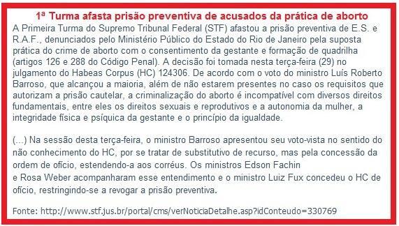 Noticia da decisão da 1ª Turma do STF que Fonteles critica.