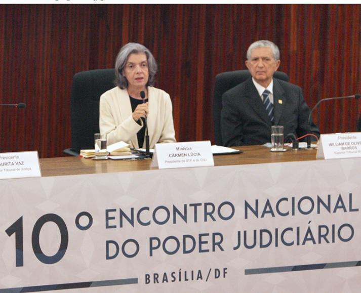 Carmem Lúcia, em palestra, alertou o Judiciário. Foto: Nelson Jr./SCO/STF