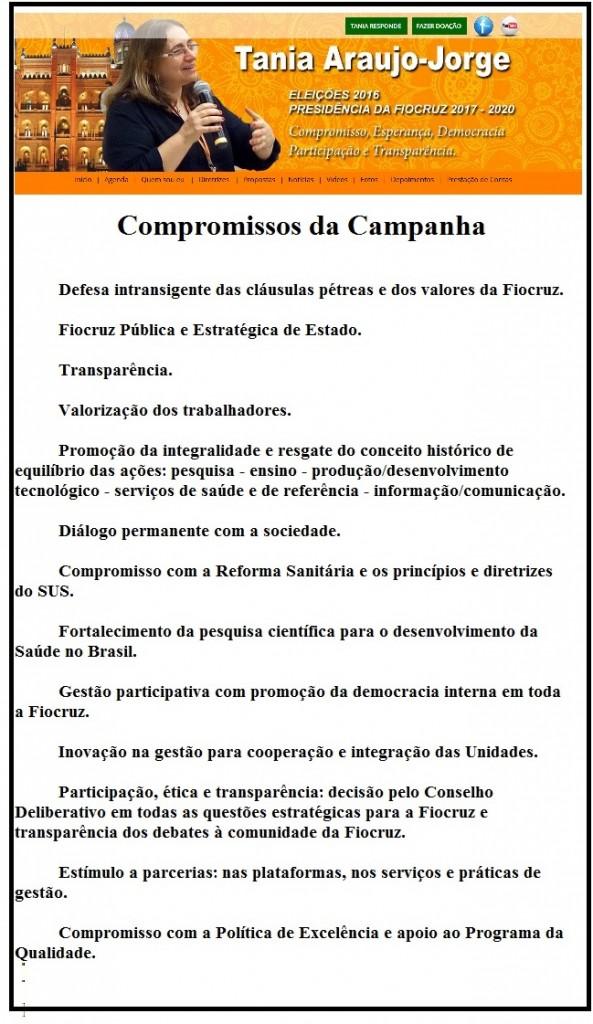 Entre os compromissos assumidos por Tânia na campanha está o de respeitar as decisões do Conselho Deliberativo, o mesmo que se posiciona contrário à sua posse.