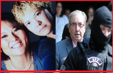 Nelma Kodama e a namorada, depois de colanborarem com a Polícia, foram mantidas na cela da Polícia Federal; Eduardo Cunha denuncia que foi mandado ao presídio por não querer fazer delação. Fotos Reproduções
