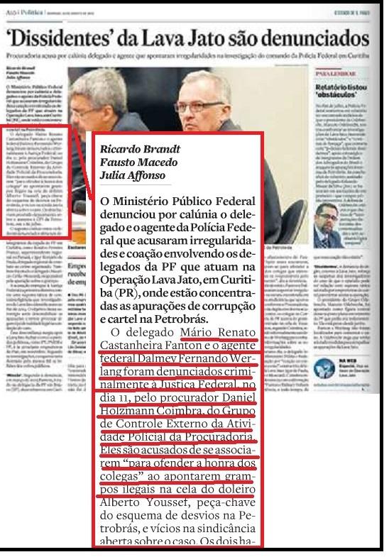 Na página interna do jornal, a identificação dos réus denunciados por crimes que nem o juízo, nem o tribunal reconheceram