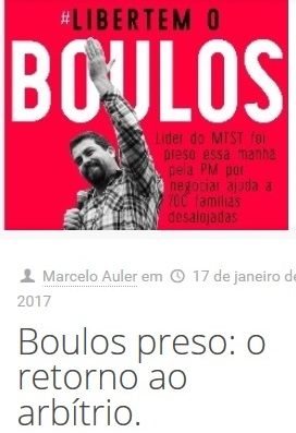 Boulos preso no blog.menor