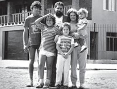Marisa Letícia, Lula e os filhos.
