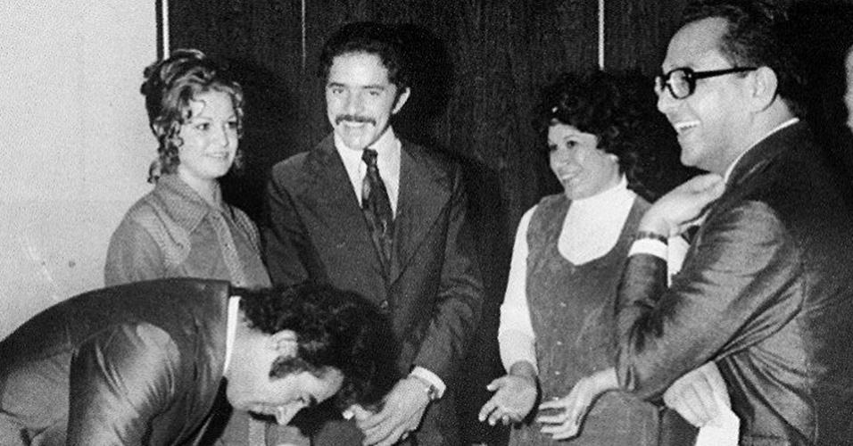 Lula e Marisa, casamento em 1974.