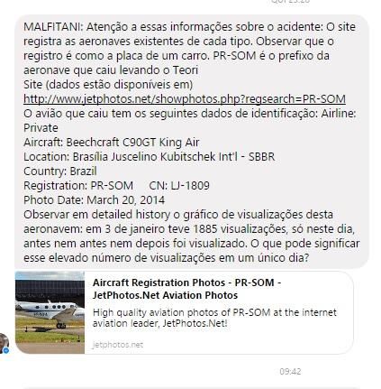 O alerta de Chico Malfitani na noite de quinta-feira.