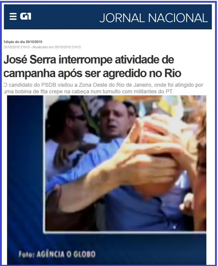 Bolinha de papel de José Serra