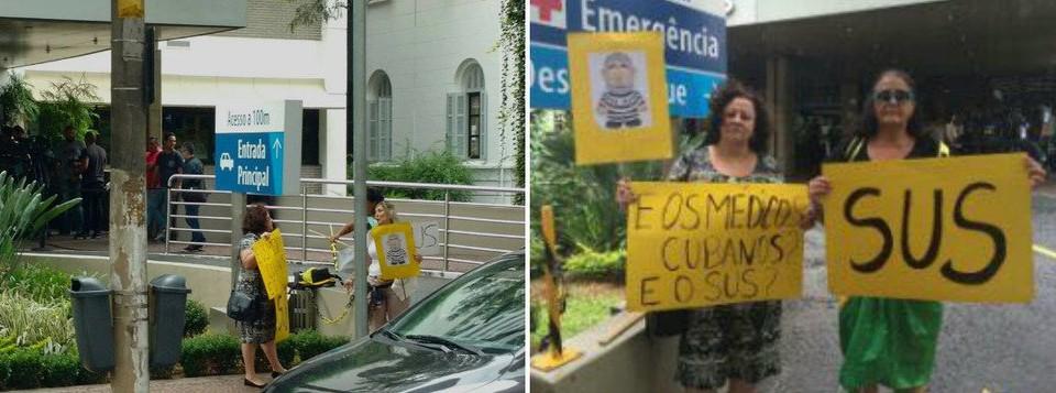 protestos no hospital