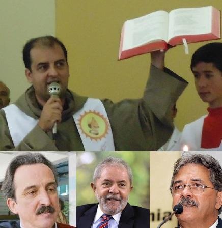 As ameaças a Frei Gilberto levaram Lula a encarregar Dulci (esquerda) de informar-se com Nilmário sobre as providências do governo petista de Minas. (Fotos reprodução Internet)