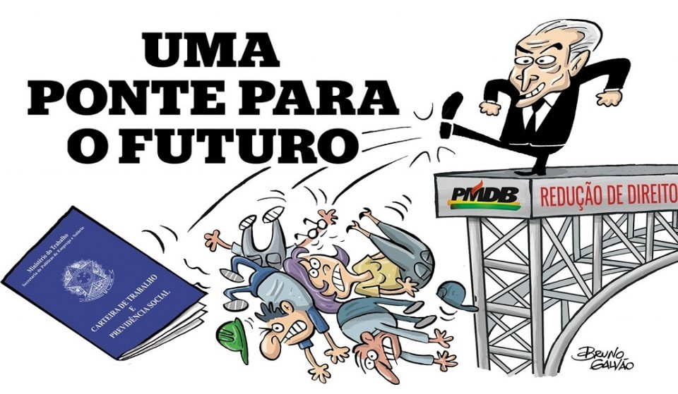 Charge extraída da página do SINDICATO DOS TRABALHADORES EM CORREIOS, TELÉGRAFOS E SIMILARES DO ESTADO DO CEARÁ
