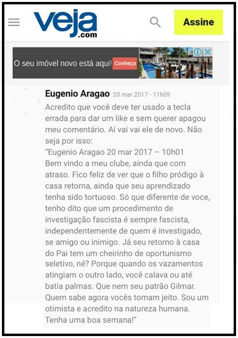 reinaldo azevedo & Aragão2