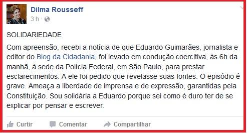 solidariedade a Eduardo Guimarães