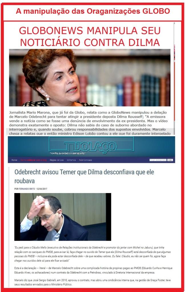 A manipulação das orgaqnizações Globo