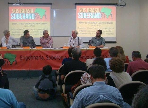 Em busca de saídas: Senge promove debate com Carlos Lessa, Fernando de Araújo Penna e os deputados federais Alessandro Molon (REDE-RJ) e Glauber Braga (PSOL-RJ)