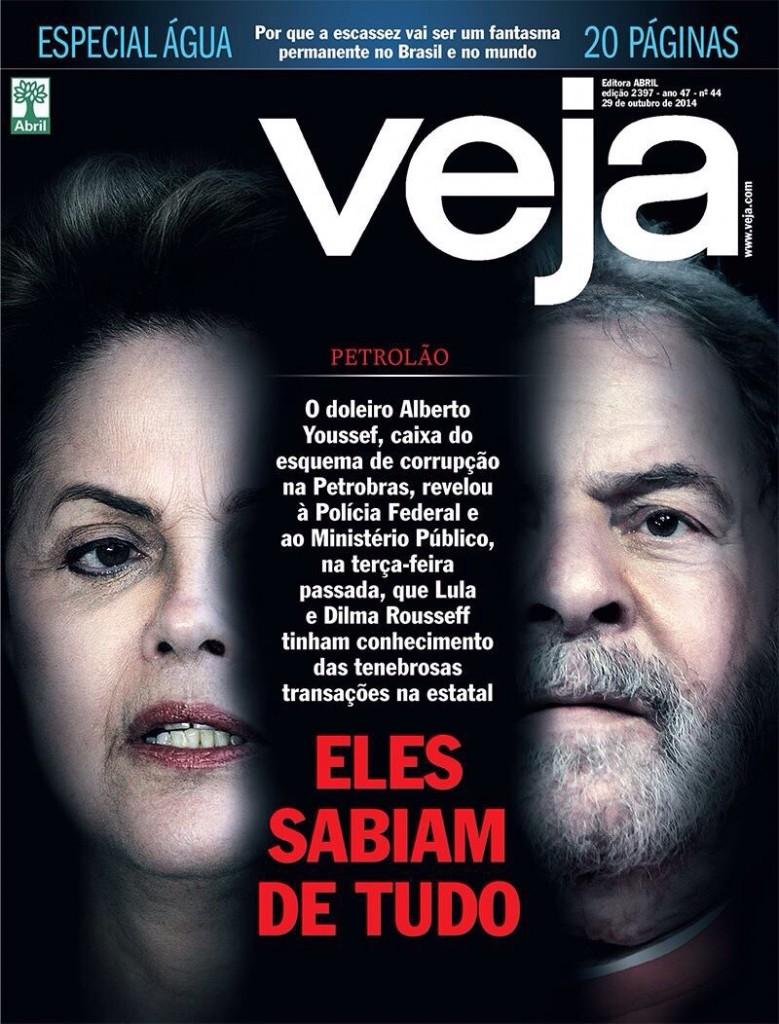 Na campanha eleitoral de 2014, a Veja tentou empurrar a candidatura de Aécio detonando Lula e Dilma. Não conseguiu