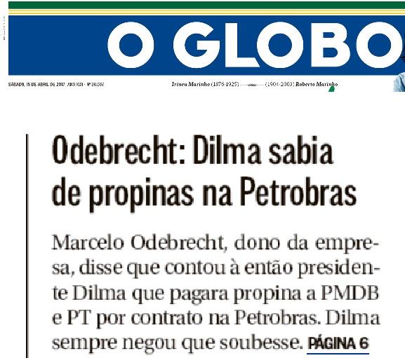 Ma fé de O Globo