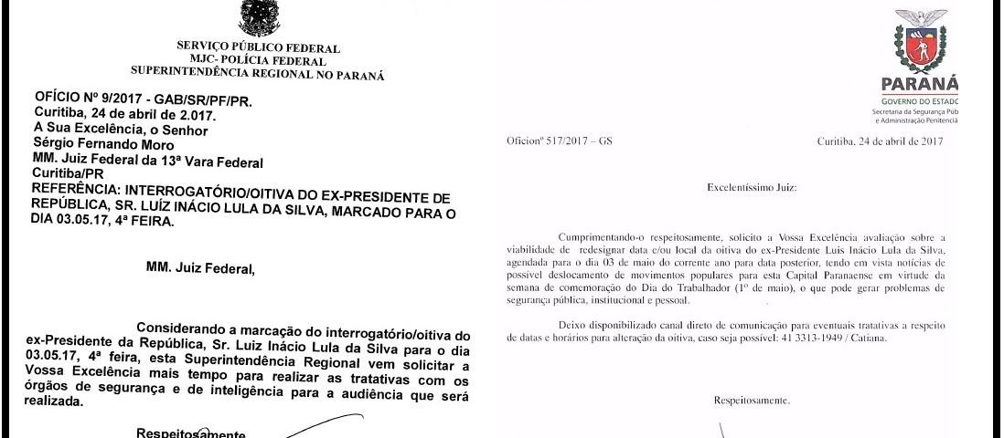 Após se entenderem, Rosalvo e Mesquita enviaram os seus ofícios ao juiz Moro, no mesmo dia 24 de abril.