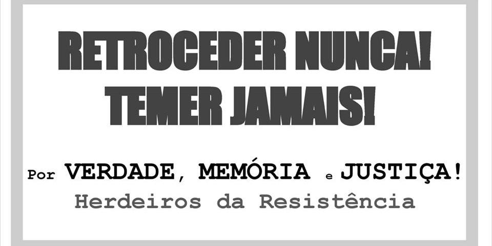 Postagem copiada da página Filhos e Netos por Memória, Verdade e Justiça (https://www.facebook.com/groups/hijosbrasil/)