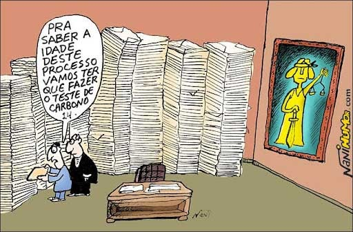 Charge copiada do blogger mazelas do judiciario - http://mazelasdojudiciario.blogspot.com.br/2012/05/tribunais-estao-abarrotados.html