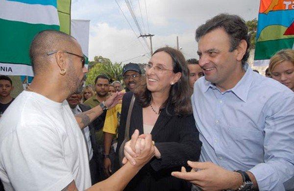 """""""A reação dos irmãos Neves não fugiu ao figurino. AQndréa Neves questionou: 'Por que tanto ódio?"""" - Foto - reprodução do DCM."""