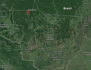 Colniza no Noroeste do Mato Grosso, divisa com Rondônia. Foto reprodução da Revista CartaCapital