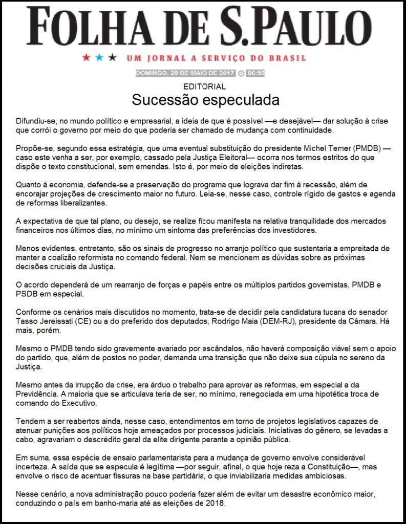 Folha Editorial 28.05.2017