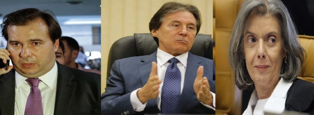 Rodrigo Maia, Eunicio Oliveira e Carmen Lúcia são os substitutos de Temer previstos na Constituição.