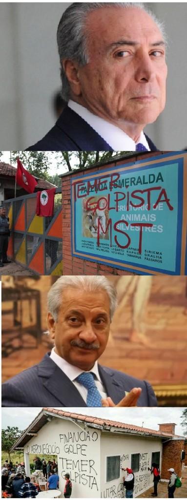 """Em maio de 2016, acusando o coronel Lima de ser """"laranja"""" de Temer, o MST invadiu a Fazenda Esmeralda."""