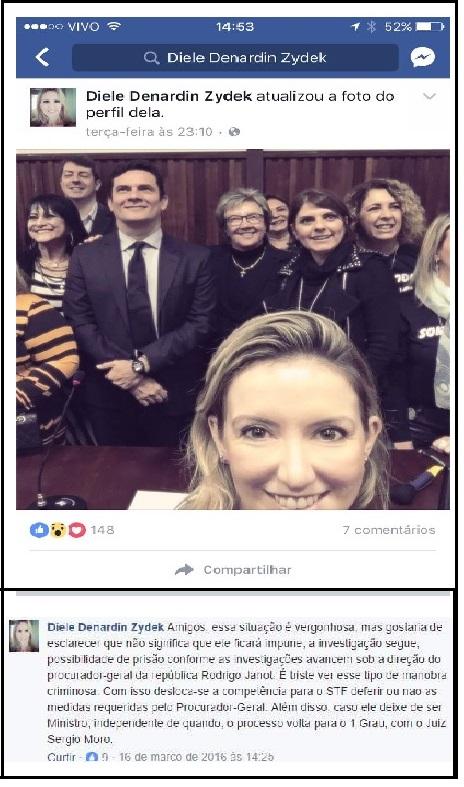 Nas redes sociais , a juíza Diele emite suas opiniões como cidadã. Um direito, sem dúvida. Mas depois de atacar Lula e o PT, ela não se sente impedida de decidir em processos em que ambos têm interesse? E a imparcialidade?