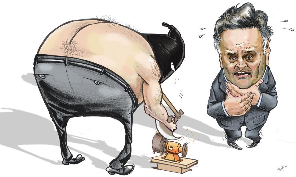 Peemedebistas, como adiantou Arnaldo César aqui no Blog, chantagearam os tucanos com a possível degola que está sendo preparada de Aécio Neves. Tudo pilantragem. Charge de Paixão, publicada na Gazeta do Povo (PR) em 27 de maio de 2017.