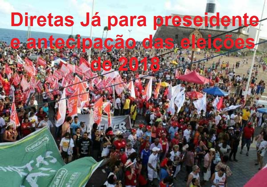 Baianos pedem Diretas Já no Farol da Barra, domingo, 11/06. Foto Bahia.Ba