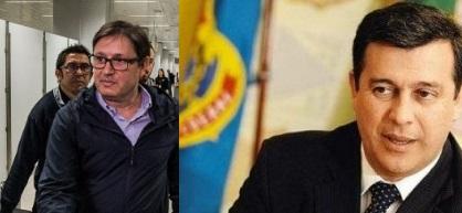 O diretor-geral do DPF, Leandro Daiello (à direita) mantêm-se no cargo graças a ajuda do então assessor de Temer, Loures, o homem da mala do R$ 500 mil.