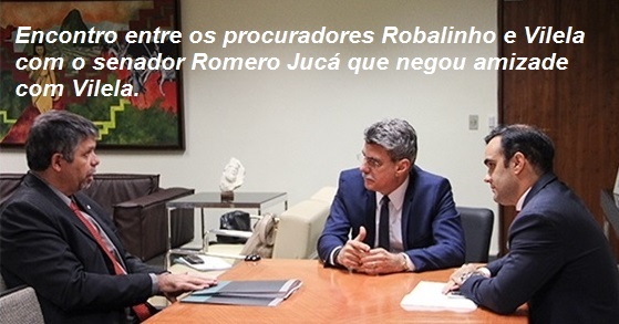 Robalinho, Jucá e Angelo Goulart Vilela. EDITADA