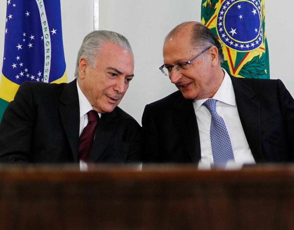 Michel Temer foi buscar apoio do governador Geraldo Alckmin (Foto: Beto Barata/PR - 12/2016)